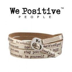 Bracciale We Positive VINTAGE 118 ORO MARRONE