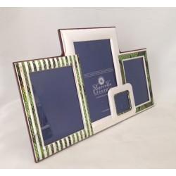 Cornice Multifoto e smalto verde MARCELLO GIORGIO