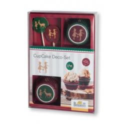 Set 36Pz Decorazioni per Cup cake Natale
