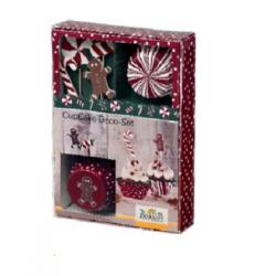 Set 36 Pz decorazione cup cake Candy Christmas