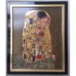 Quadro in porcellana IL BACIO di Klimt  GOEBEL