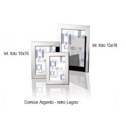 Cornice Argento LINEA CUBE ITS 10x15 e 13x18cm