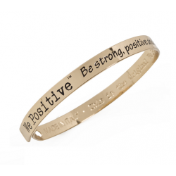 BRACCIALE WE POSITIVE FRIENDS COL. ORO