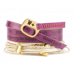BRACCIALE WE POSITIVE NICE CON CHARMS COL AMARANTO