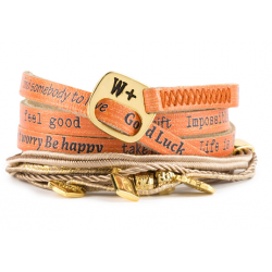 BRACCIALE WE POSITIVE NICE CON CHARMS COL ARANCIO
