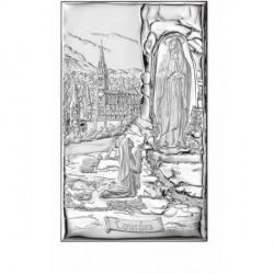 Quadretto Madonna di Lourdes 10x16cm