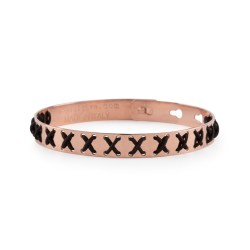 Bracciale We Positive FRIENDS Cross color Oro Rosa c/NERO