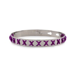 Bracciale WE POSITIVE  FRIENDS CROSS COL.ARGENTO C/VIOLA