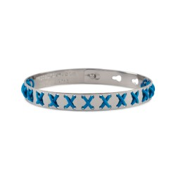 Bracciale WE POSITIVE  FRIENDS CROSS COL.ARGENTO C/TURCHESE
