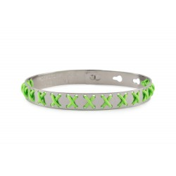 Bracciale WE POSITIVE  FRIENDS CROSS COL.ARGENTO C/VERDE