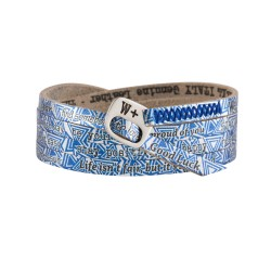 Bracciale WE POSITIVE PRINTED triangoli COL.SILVER BLU