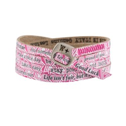 Bracciale WE POSITIVE PRINTED triangoli COL.FUXIA