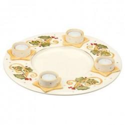 Goebel piatto dell'Avvento con 4 Tea Lights