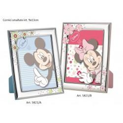 Portafoto argento smaltato Topolino Minnie Disney