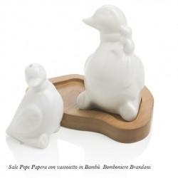 Sale Pepe Papere in porcellana con Bambù BRANDANI bomboniere