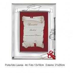 Porta foto Laurea in argento bilaminato 13x18cm