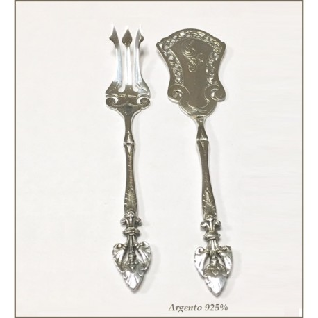 Forchetta Paletta Argento 925 Set E In Antipasto 2IEWDbe9YH