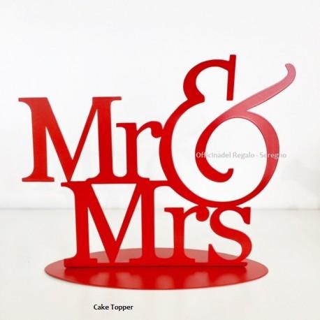 Cake Topper anniversario  Wedding Mr & Mrs