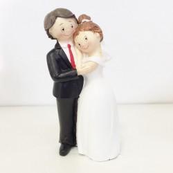 Cake Topper Matrimonio Sposini abbracciati