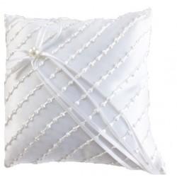 Cuscino fedi in raso bianco