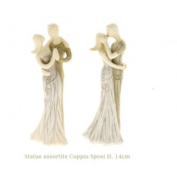 Coppia statua sposi in resina colorata Bomboniere Matrimonio
