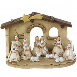 Presepe 9 pezzi con Capanna Bagutta Natale