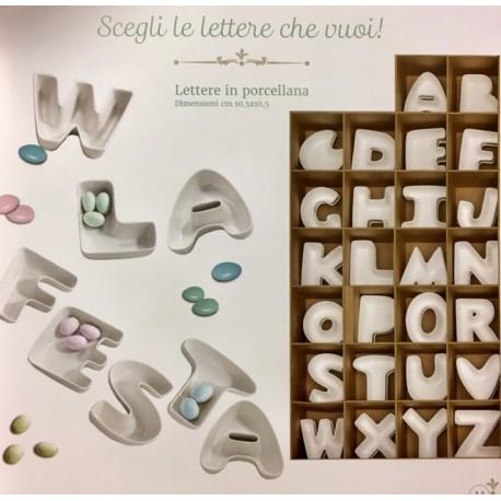 Lettere in porcellana ciotole BRANDANI