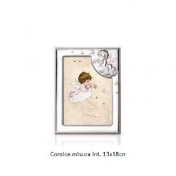 Cornice portafoto in argento Angelo smaltato rosa ITALSILVER