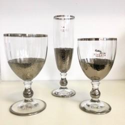 Servizio bicchieri 18 pezzi decoro Platino