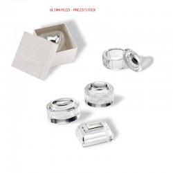 Scatoline in cristallo con applicazione argento 925%