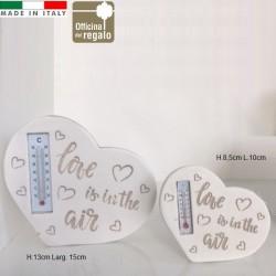 Termometro a forma di cuore con frasi Love Bomboniera Utile Matrimonio