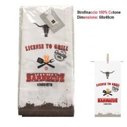 Strofinaccio canovaccio 100% Cotone Barbecue Licence to Grill