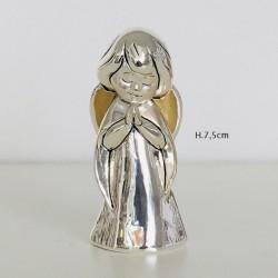 Angelo che prega in resina argentata e dorata Valenti Argenti