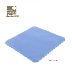 Confezione 50 pz Tulle quadrato velo di fata Azzurro