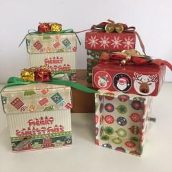 Scatoline portagioie decori Natale  con carillon