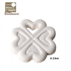 Gesso bianco a forma di Quadrifoglio Bomboniere