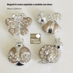 Magneti calamite Animali Felicità Coccinella Farfalla Ape e Lumaca
