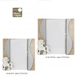 Cornici portafoto Linea Unicorno in legno misure