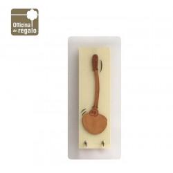 Pannello appendi strofinacci cucina in metacrilato satinato e legno INCANTESIMO