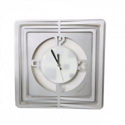 Orologio da parete quadrato in metallo laccato