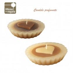Candele profumate a forma di tortino e cuore San Valentino