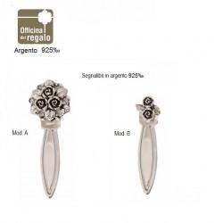 Segnalibri con fiori in argento massiccio 925‰