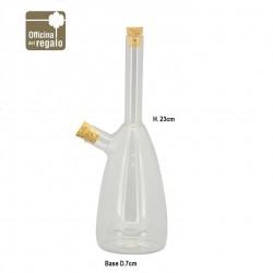 Oliera Doppia ampolla per olio Aceto in vetro