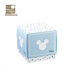 Scatola portaconfetti grande azzurra Mickey Mouse Bomboniere