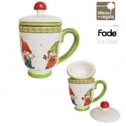 Tisanieria in porcellana con decoro in rilievo Elfi Collection FADE