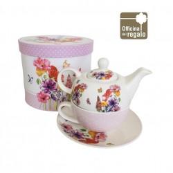 Tea for one teiera con tazza e scatola regalo FADE