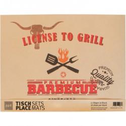 Set 12 Tovagliette carta Linea License To Grill PPD