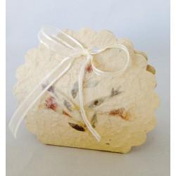 Set 12 Pz Scatolina p.ta confetti in fibra naturale
